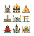 traditional church set christian evangelistic vector image