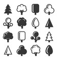 tree icon set on white background vector image vector image