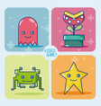 videogame retro characters vector image