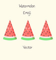 watermelon emoji set in flat style isolated vector image vector image