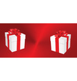 White gift boxes on heart background vector image vector image