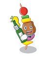 with beer barbecue character cartoon style vector image