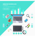 Workplace Objects Infographic Set vector image vector image