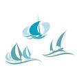 Yachts and sailboats vector image