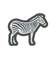 zebra african animal striped horse icon vector image