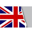 grunge teared flag vector image