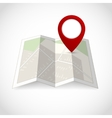 Map with pin symbol vector image