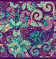 bright seamless pattern ethnic backdrop abstract vector image