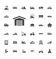 33 vehicle icons vector image vector image