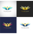 abstract 3d butterfly logo template for your vector image vector image