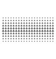 air plane shape halftone pattern vector image vector image