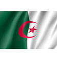 algeria realistic flag vector image vector image