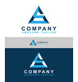 alphabet logo design for business company vector image