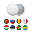 arranged plenty of flags for round badge vector image vector image