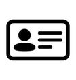 badge icon male user person profile avatar symbol vector image vector image