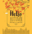 banner with autumn urban scape and inscription vector image vector image