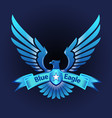 blue eagle vector image