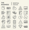 business line icon set management symbols vector image