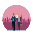 businessmen avatar cartoon character round icon vector image vector image