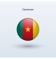 Cameroon round flag vector image vector image