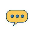 chat bubbles symbol vector image