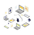 cloud computing security concept design vector image vector image