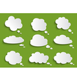 Cloud speech bubble collection vector image vector image