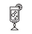 cocktail alcoholic beverage icon drink liquor line vector image vector image