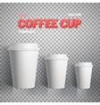 Coffee Cup Coffee Cup Mockup vector image vector image