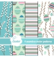 Collection of seamless blue patterns with stylized vector image vector image