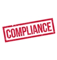Compliance rubber stamp vector image vector image