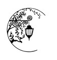 decorative lantern can be used as logo vector image
