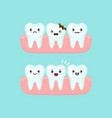 dental filling on a broken tooth stomatology vector image vector image