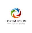dolphin logo design concept template vector image