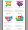 exclusive quality hot sale price promo sticker set vector image vector image