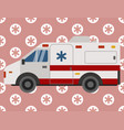 first help ambulance emergency car vehicle vector image