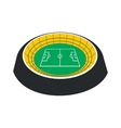 Football round stadium icon vector image vector image