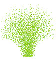 fresh spring green leaves background for greeting vector image vector image