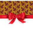 Gift Bow with Autumn Knitted Pattern 2