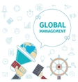 global management concept vector image vector image