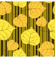 gold Pattern with leaves and stripes-01 vector image vector image