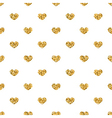 Golden hearts seamless pattern 2 white vector image