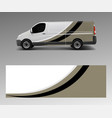 graphic abstract wave designs for wrap vehicle vector image vector image