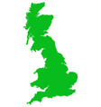 great britain map green flat isolated