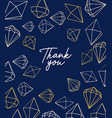 greeting card with jewels diamant vector image