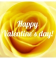 Happy Valentine Day Text on Blurred Background vector image vector image