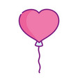 happy valentines day balloon shaped heart love vector image vector image