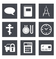 Icons for Web Design set 15 vector image vector image