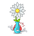 listening music modern plant in a glass vase vector image vector image