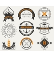 Logotypes set and Vintage Insignias design vector image